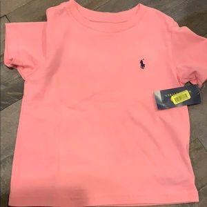Boys pink Ralph Lauren t-shirt